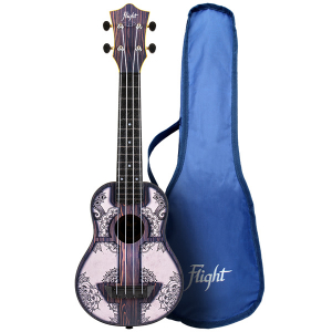 Flight TUS40 Mandala Wood Soprano Travel Ukulele