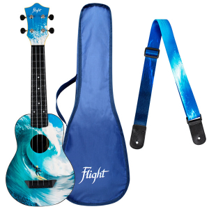 SET Flight TUS25 SURF Travel Soprano Ukulele